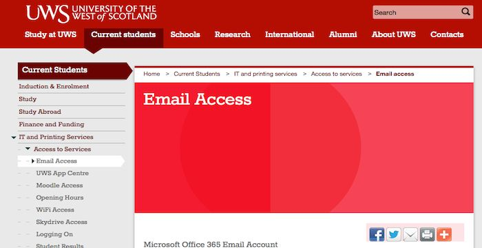 Uws Email Login Page Url Email Service