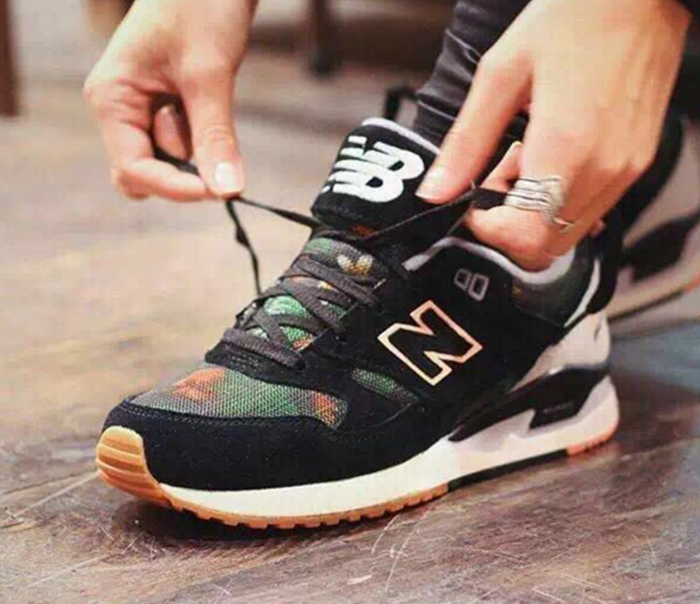 Black New Balance 574 Sneaker. Show us your #AEOSTYLE on