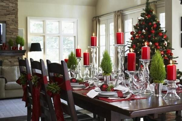 30 elegant christmas table decorations ideas for your christmas party christmas kitchen christmas dining table - Elegant Christmas Dining Room Decorations