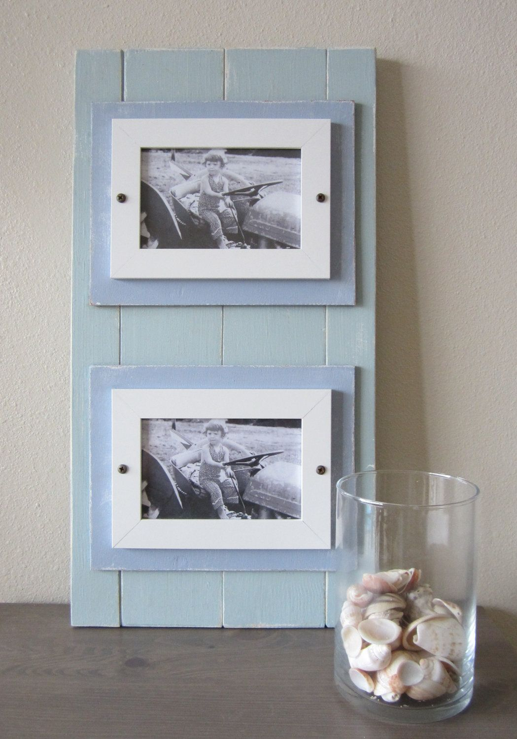 ONE TIME SALE Shabby Chic Nautical Beach Cottage Dual 4x6 Plank ...