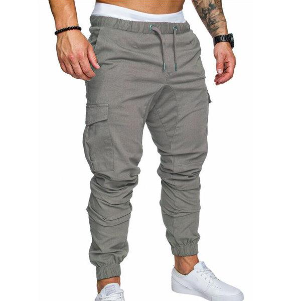 Pantalon Cargo Monocolor Mens Pants Fashion Mens Pants Casual Cargo Pants Men