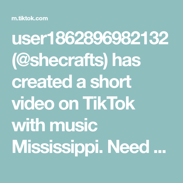 User1862896982132 Shecrafts Has Created A Short Video On Tiktok With Music Mississippi Need An Idea For A Guest Book Do A Table It In 2021 Pit Mom Music Emotions