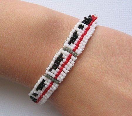 Beaded monorail bracelet