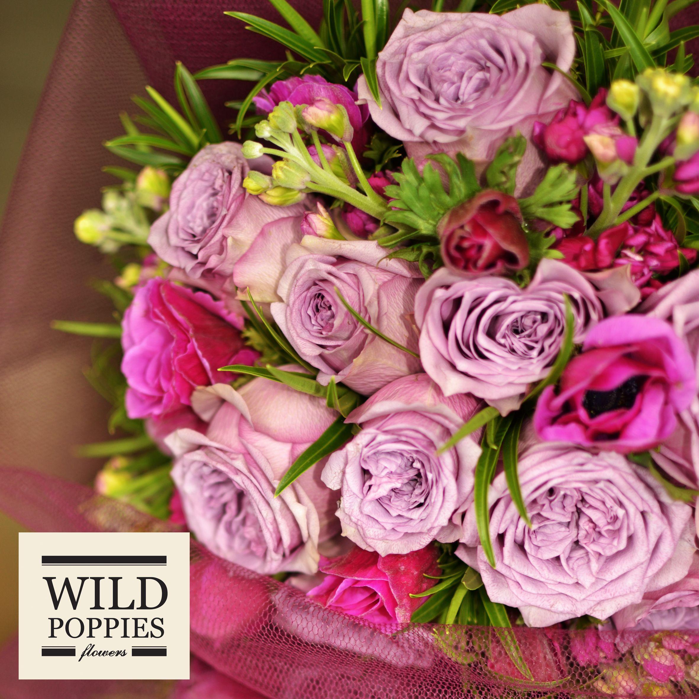 Tuesday 18th June 2013- Mauve Dolcetto Roses, Fuschia Anenomes ...