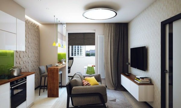 Best Minimalist 1 Bedroom Apartment Designed For A Young Man 400 x 300