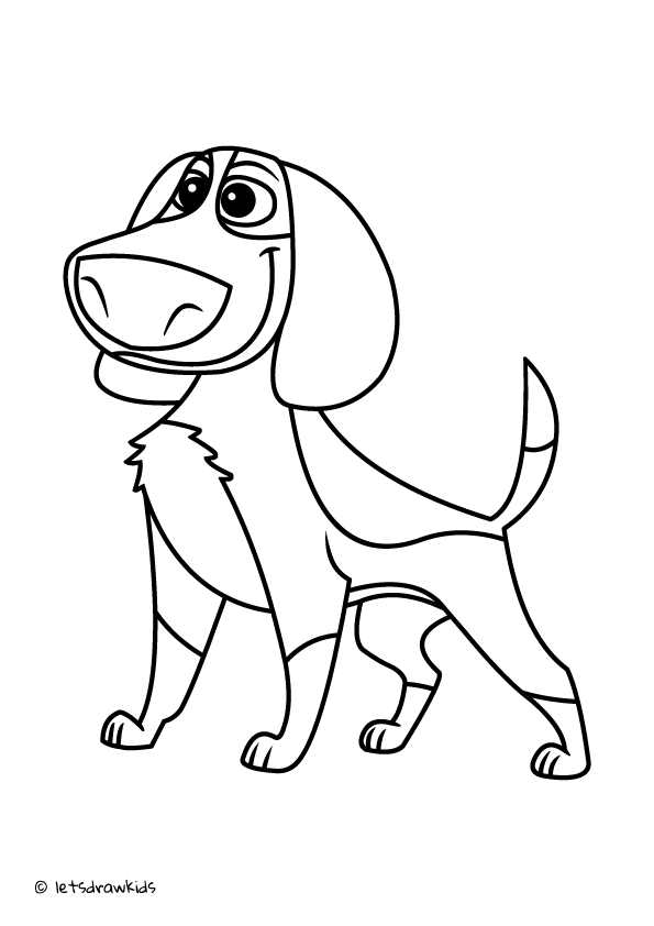 Coloring Page For Kids Ozzy Dog Http Letsdrawkids Com Drawings Dog Drawing Coloring Pages