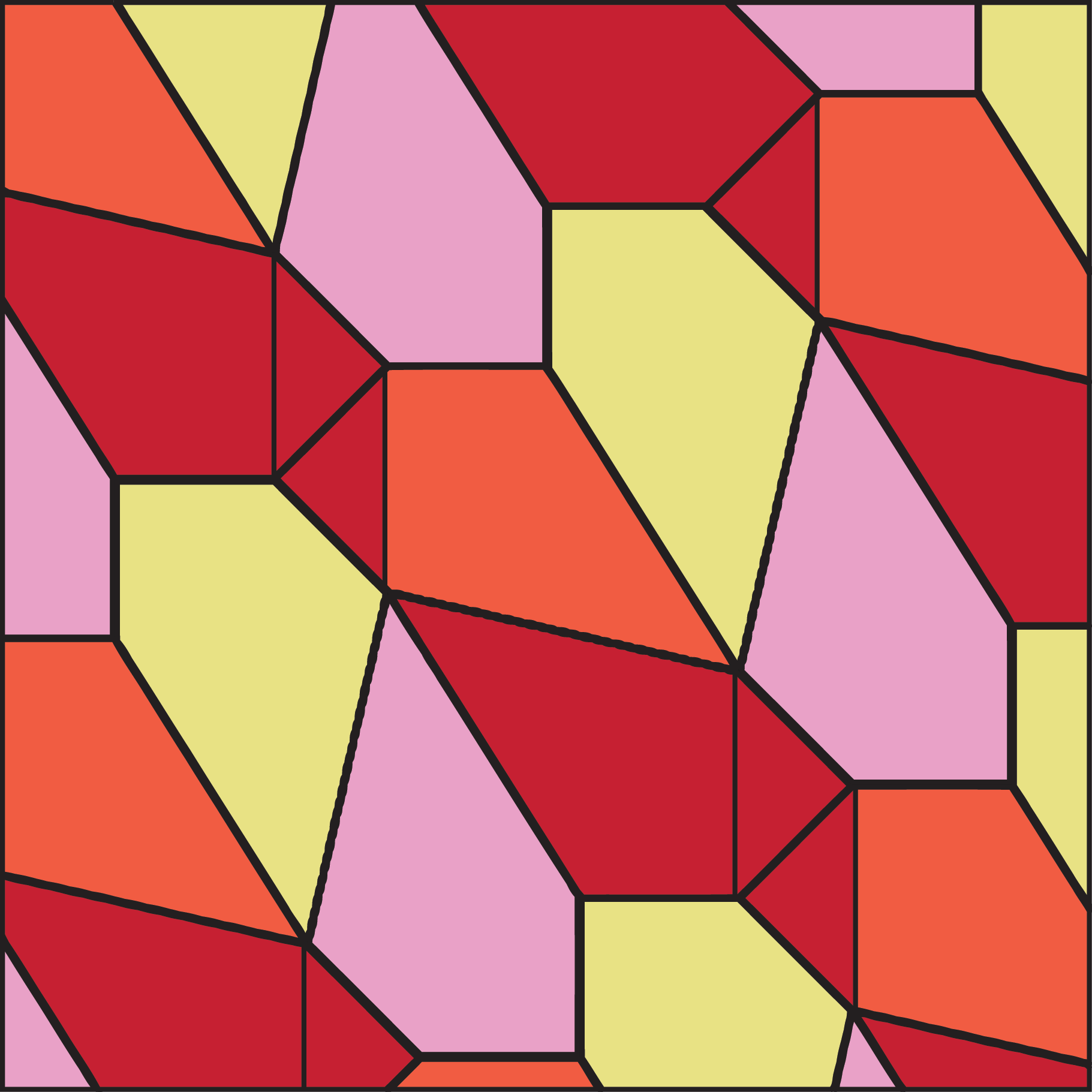 Another made of irregular polygon shapes. | Polygon ...
