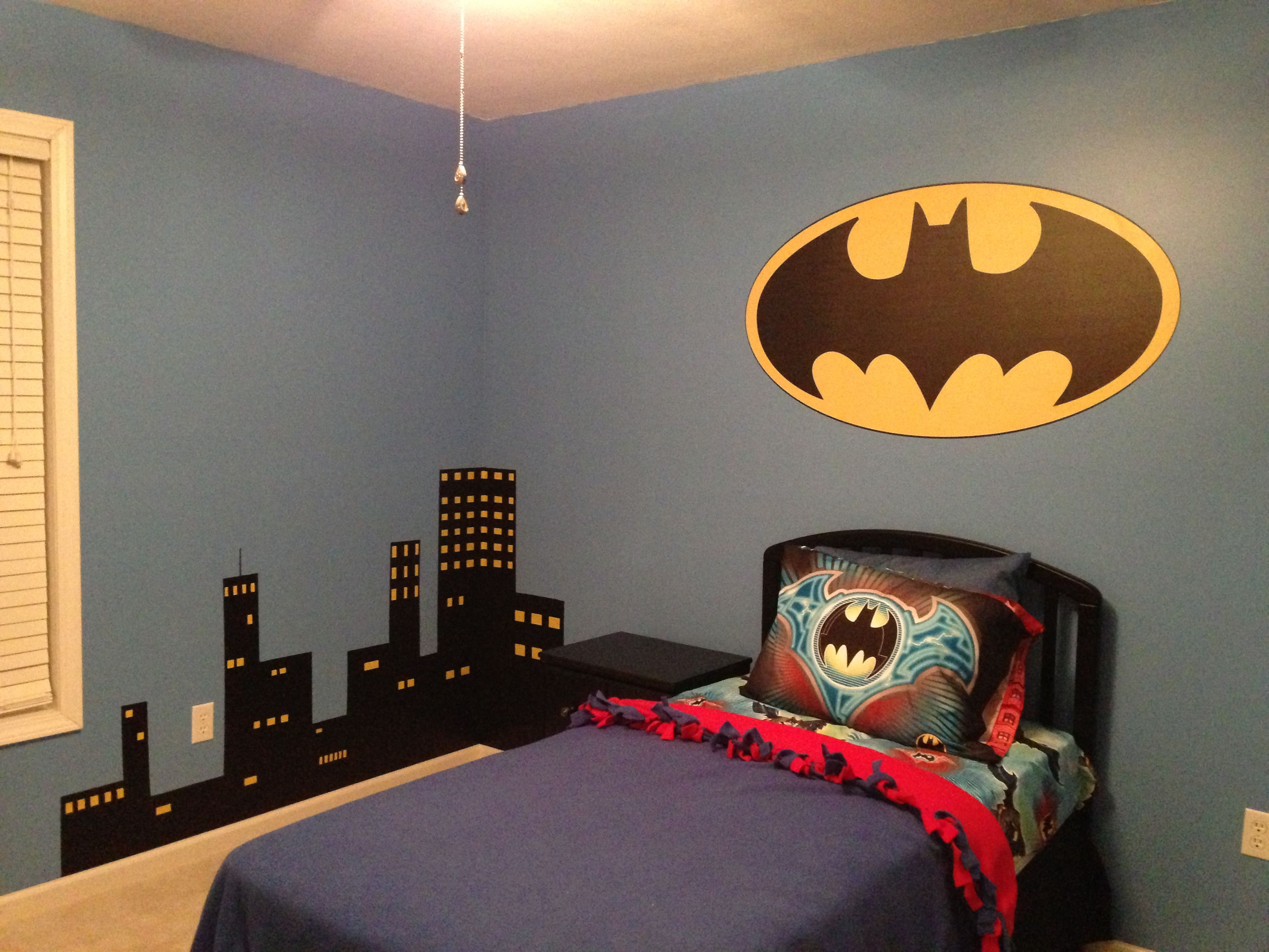 Best Cityscape For My Son S Batman Room Diy Batman Bedroom 400 x 300