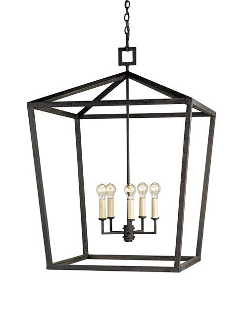Currey And Company Iron Chandeliers Lantern Chandelier Wrought