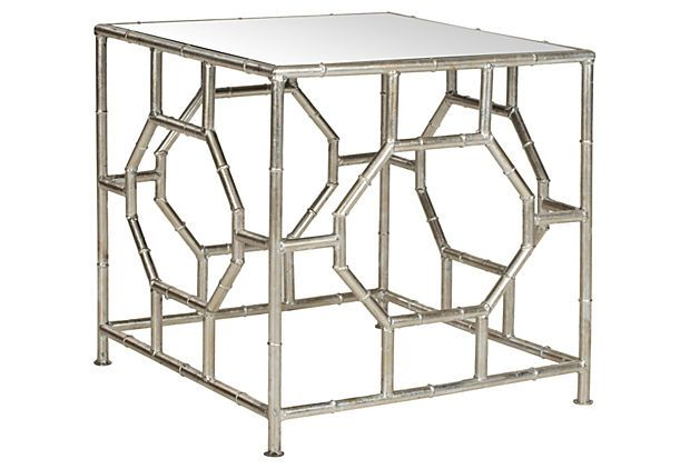 Carrie Accent Table Silver Mirrored Silver Accent Table Accent