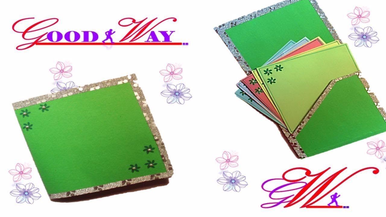 طريقة عمل مطوية مطويات مدرسية جميلة و سهله 21 How To Make Notebook Hand Art Diy And Crafts Crafts