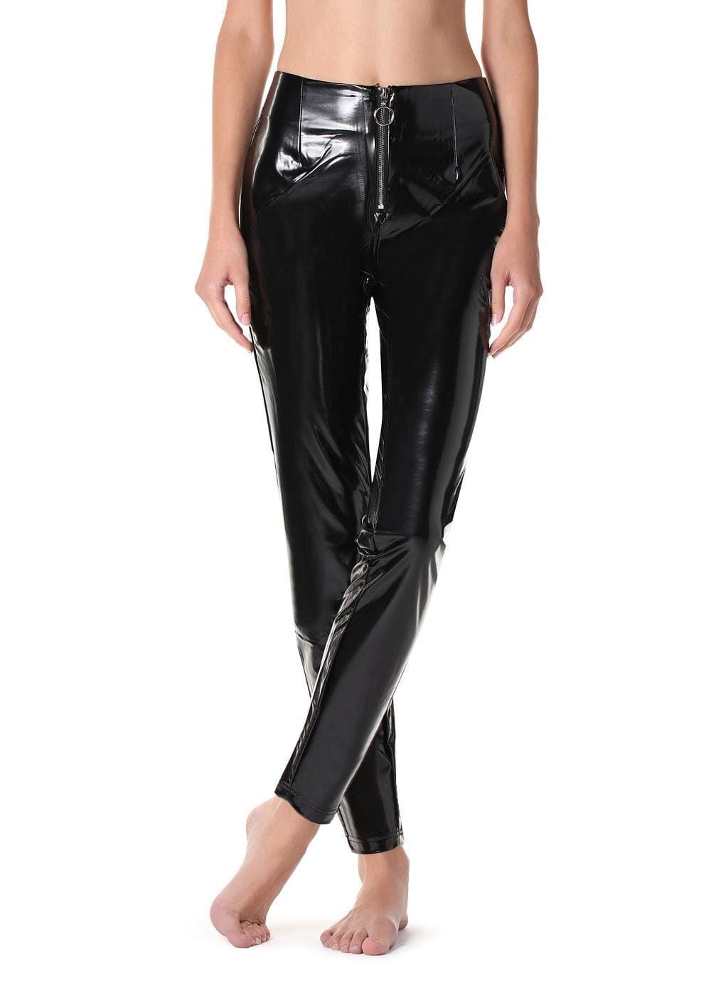 Leggings In Vinile Con Zip Calzedonia Pantaloni Di Pelle Vinile Moda