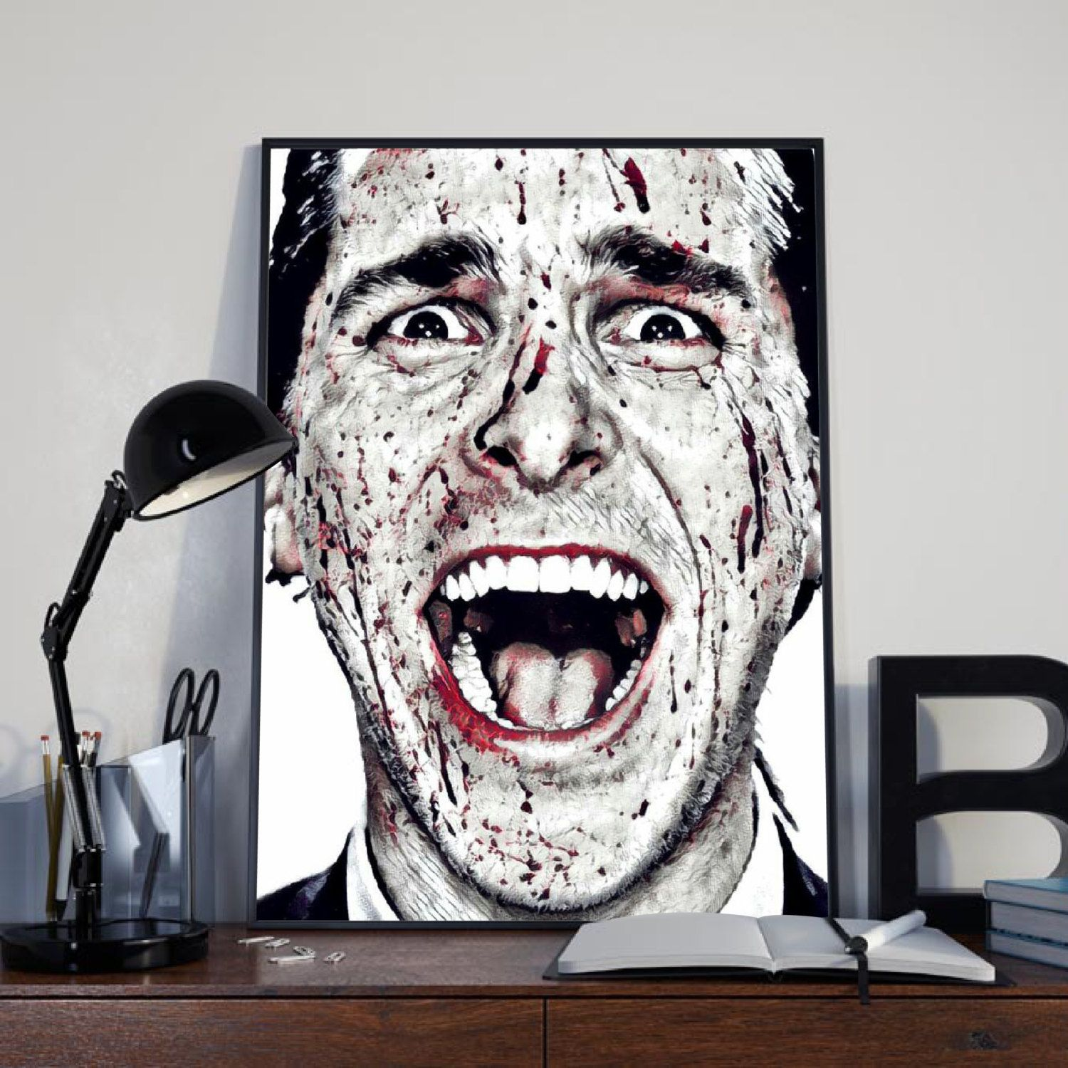 American Psycho, Movie, Christian Bale, Print, Wall decor, Picture, Wall Art…