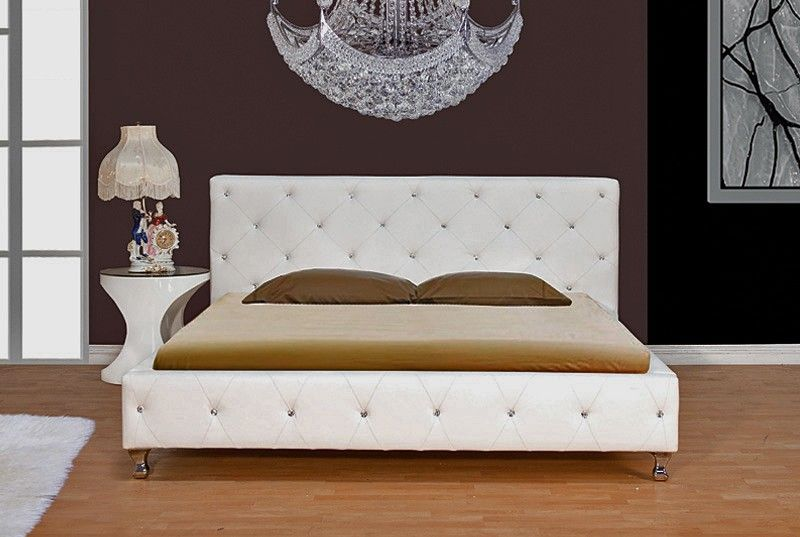 Tuffed Leather Headboards For King Size Beds Crystal Tufted Bed B 6016