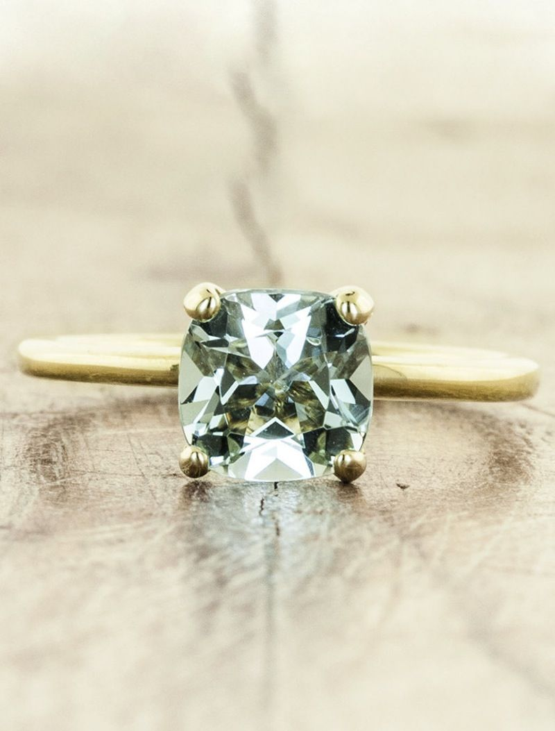 17 stunning non diamond engagement rings to lust over - Non Diamond Wedding Rings