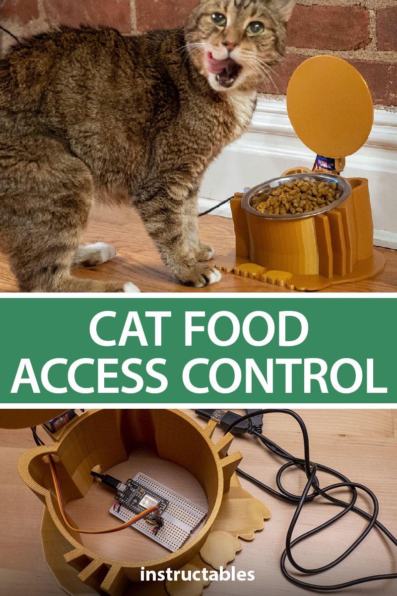 Cat food access control esp8266 servo motor 3d