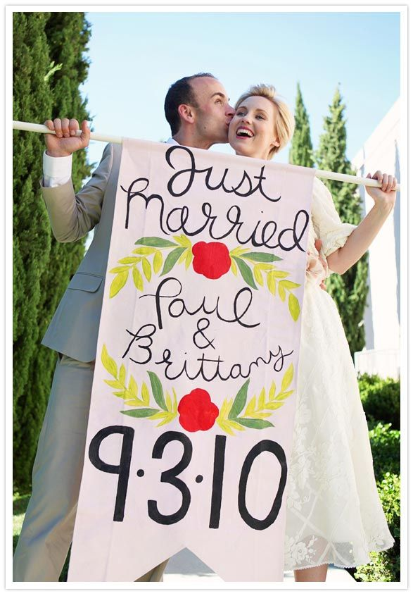 2000 Dollar Budget Wedding DIY Wedding Banners