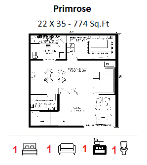 House Plan For 22 Feet By 35 Feet Plot Plot Size 86 Square Yards 1 House Floor Plans Floor Plans House Plans
