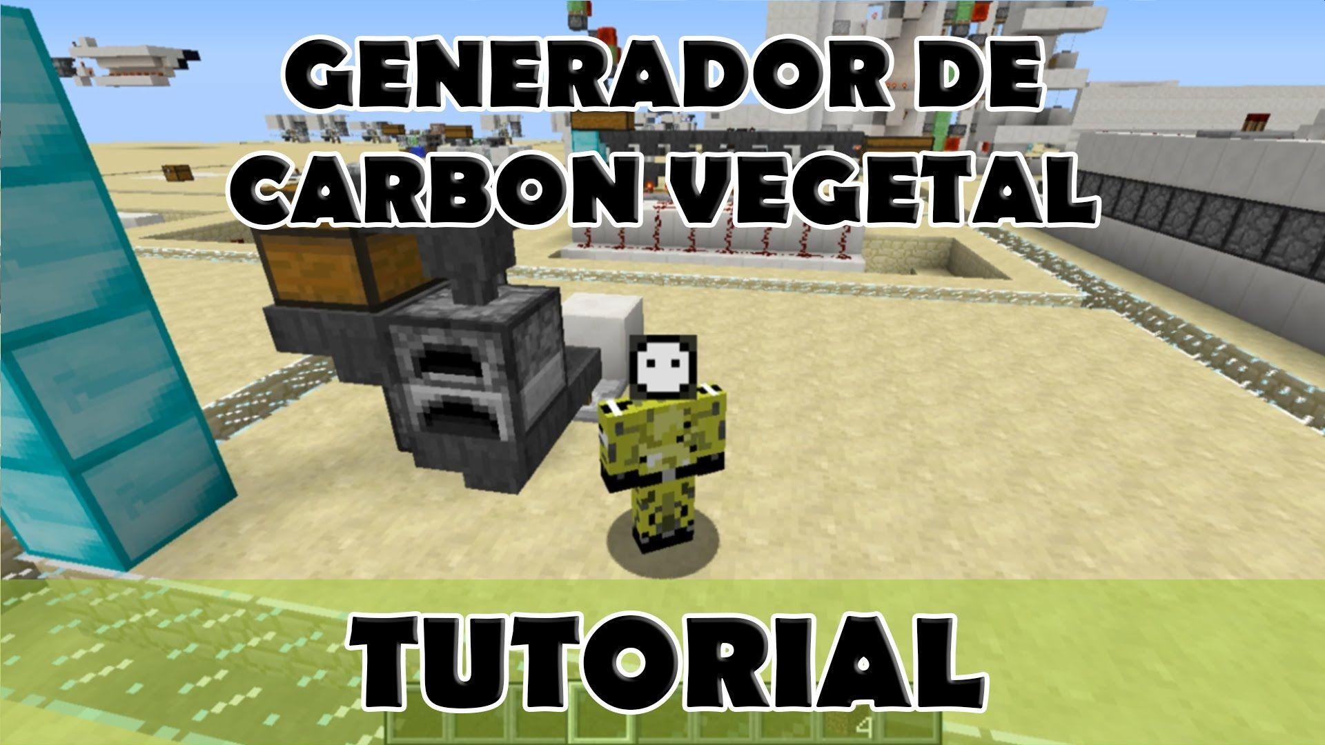 Tutorial Minecraft Mini Fábrica De Carbón Vegetal Minecraft Carbon Vegetal Granja Minecraft