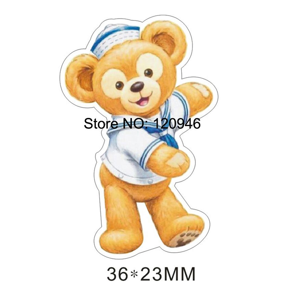 50pcs 36*23MM Kawaii Cartoon Bear Flat Back Resin For Hair Bows Planar Resin DIY Craft For Home Decoration Accessories 70428-1