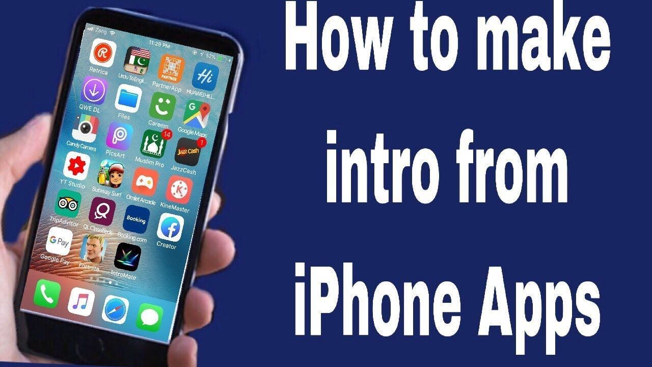 How To Make A Intro! EASY AND SIMPLE! For IPad & IPhone