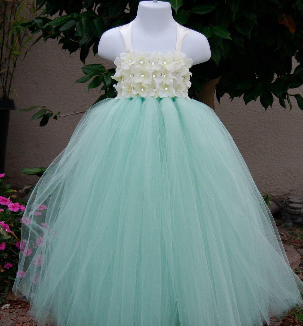 Mint Green Frozen Girl Party Dress Girl Tutu Dress Birthday Dress ...
