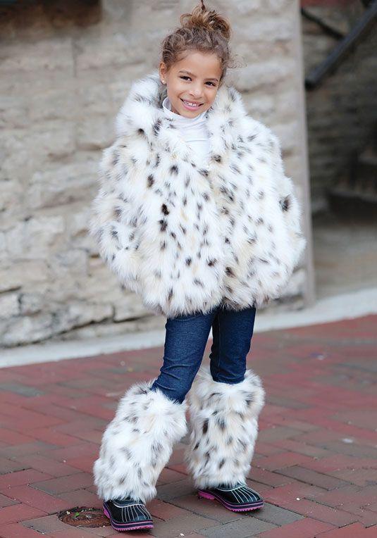 035ab7c6a Kids  Snow Leopard Faux Fur Parka A universal kid-favorite