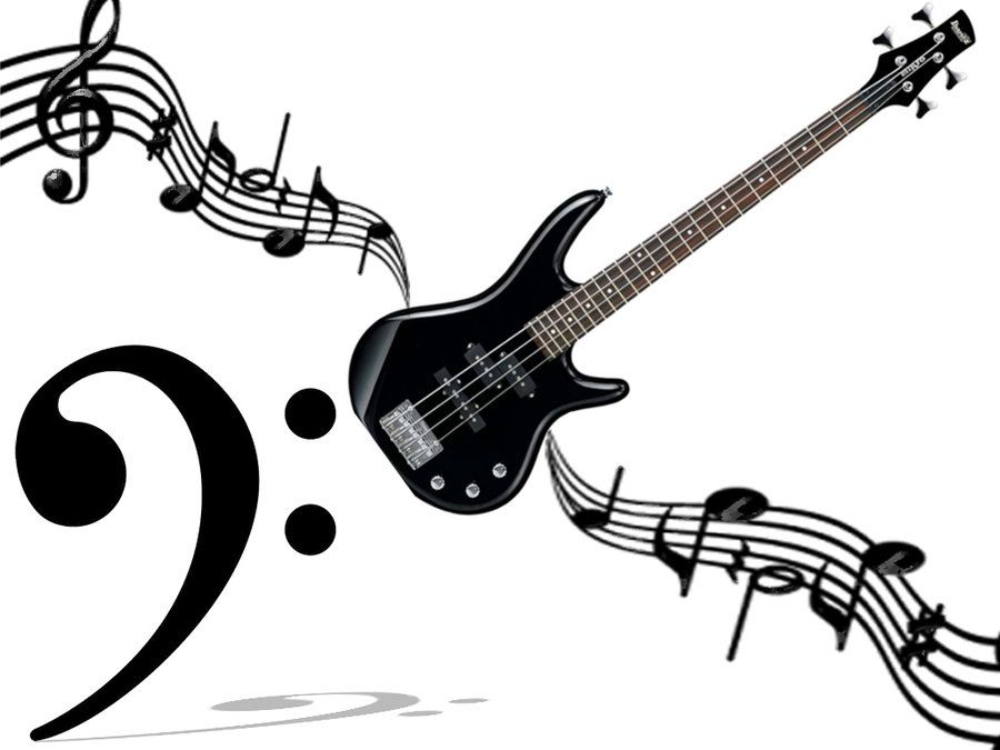 bass guitar drawing