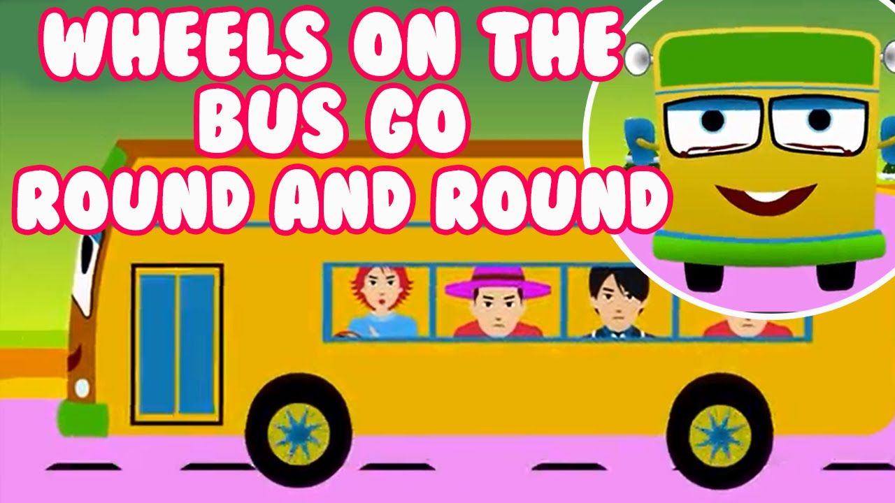 Wheels On The Bus Go Round And Round Nursery Rhymes Collection 3d Animation Cartoon Videos Kids Nursery Rhymes Rhymes For Kids Nursery Rhymes Collection
