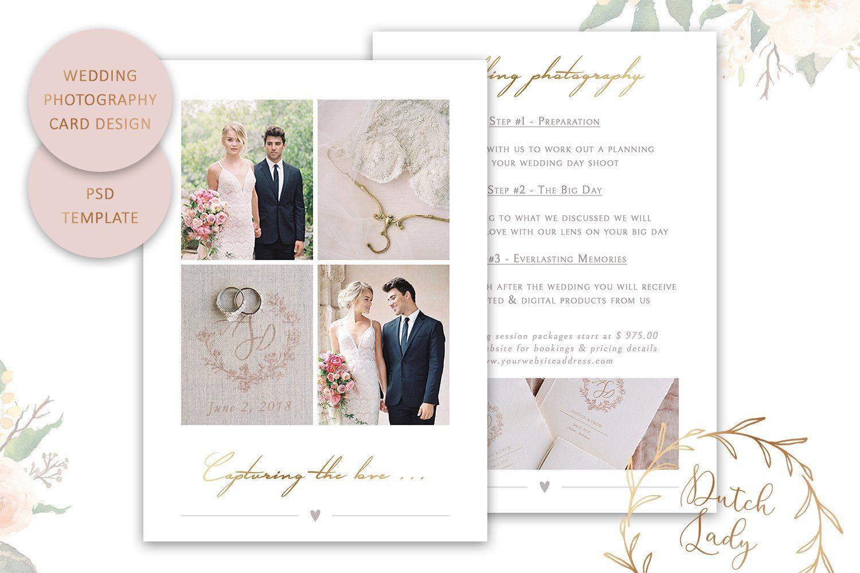 Psd Wedding Photo Card Template 6 Photo Wedding Card Photo Card Template Card Photography