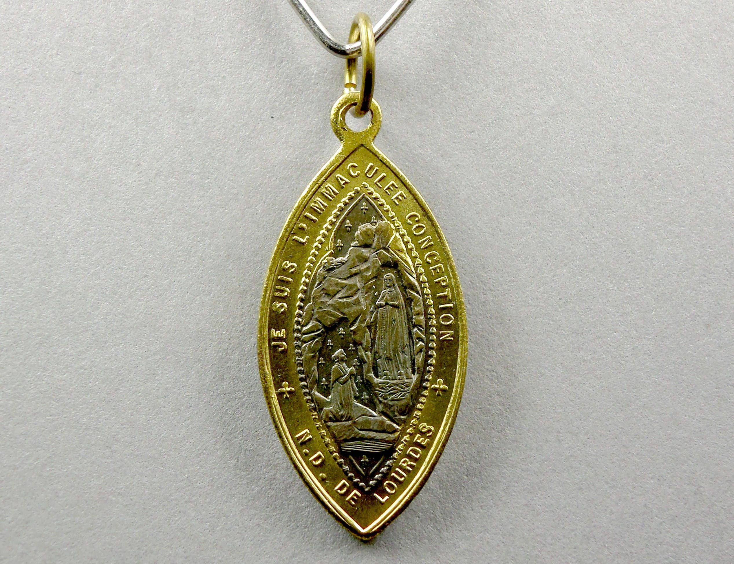medallion saint il benedict leather of listing with fullxfull choker mother pearl