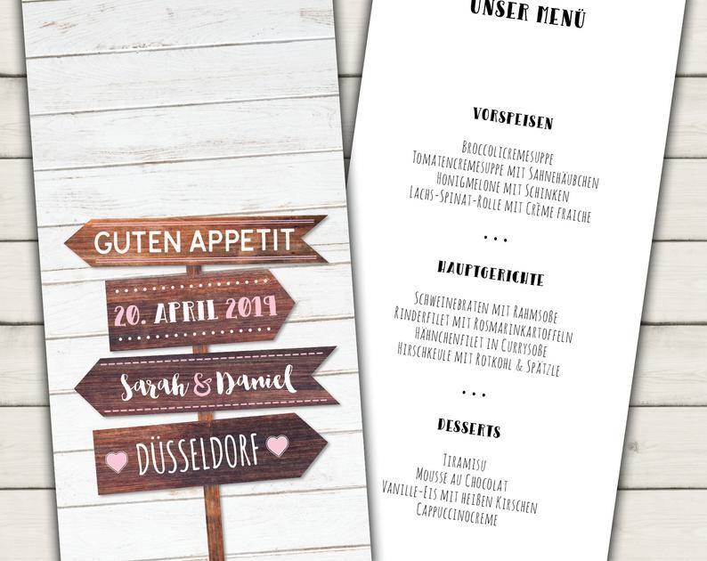 Menukarte Hochzeit Getrankekarte Hochzeit Buffetkarte Hochzeit Speisekarte Hochzeit Hochzeitsmenu Selber Ausdrucken Tischkarten Bullet Journal Journal