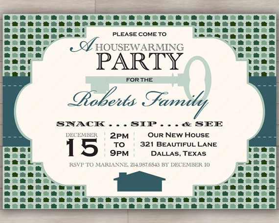 Winter Housewarming or Open House Invitation in Wintergreen // Green & Teal Color Palette
