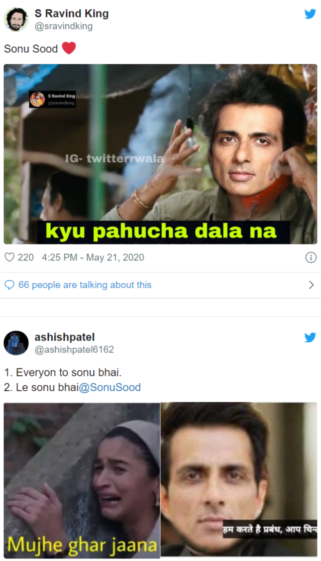 Twitter Praise Sonu Sood With Memes As He Becomes Migrant Workers Savior