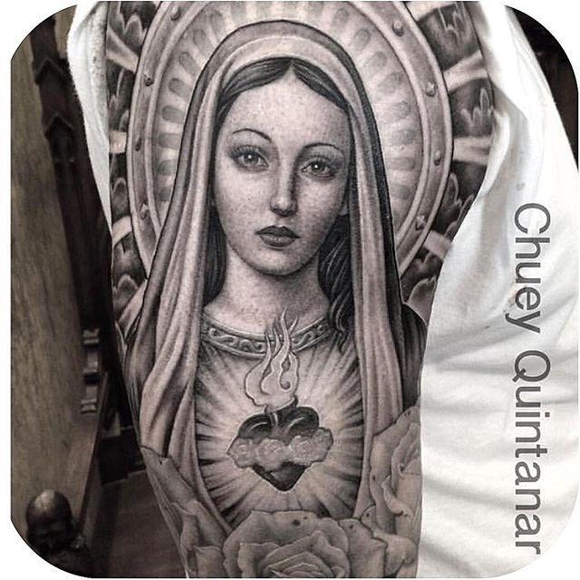 Pray for us sinners chueyquintanar tattoodo artistas for Holy mary tattoo