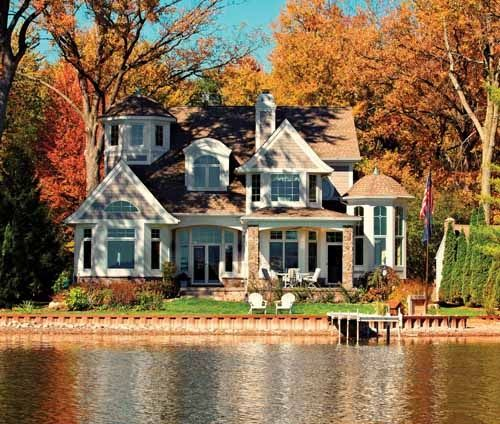 Beautiful Lake House Decor Inspiration: Although I Love Cute Small Houses.. THIS Is My Dream Home