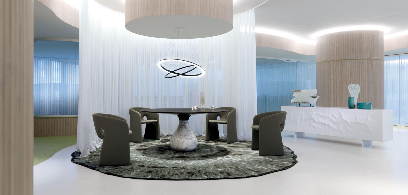 Roche Bobois Aqua Dining Table Designed By Fabrice Berrux  # Muebles Roche Bobois