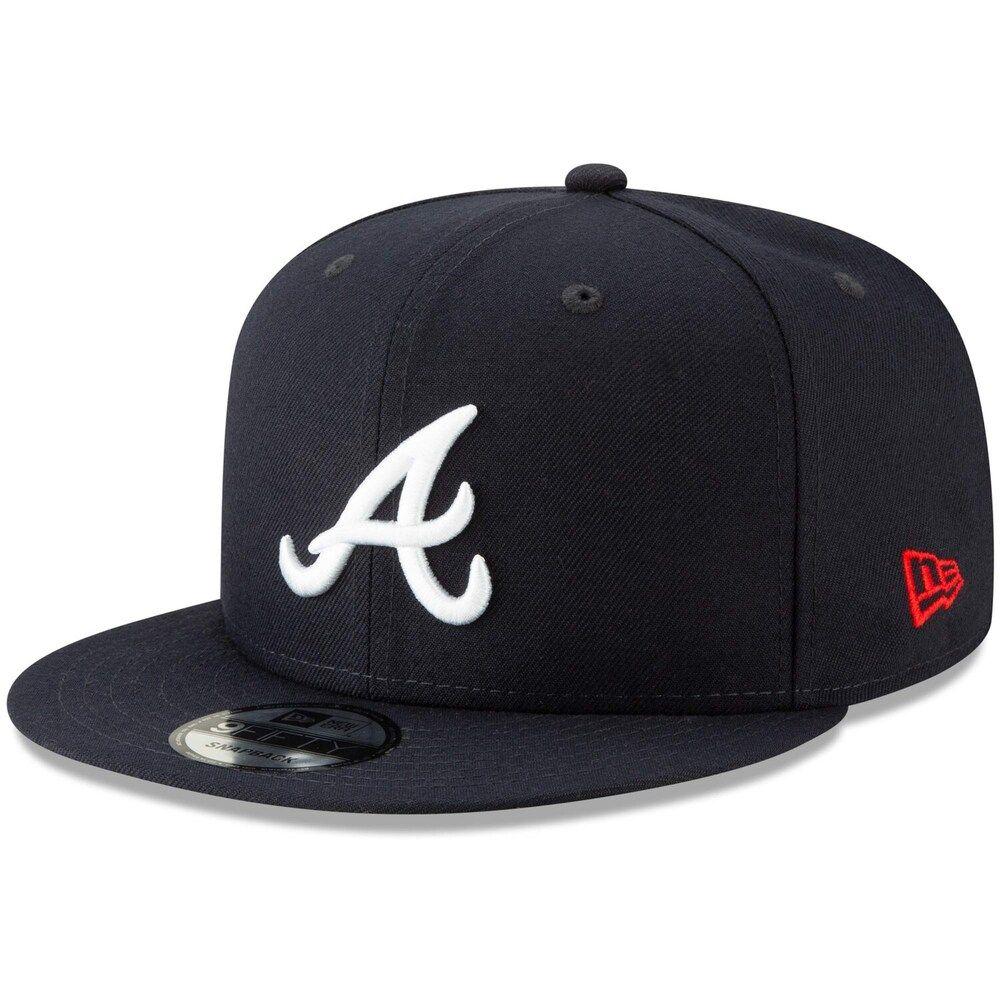 Men S New Era Navy Atlanta Braves Tag Turn 9fifty Adjustable Snapback Hat Atlanta Braves Hat Braves Hat Atlanta Braves