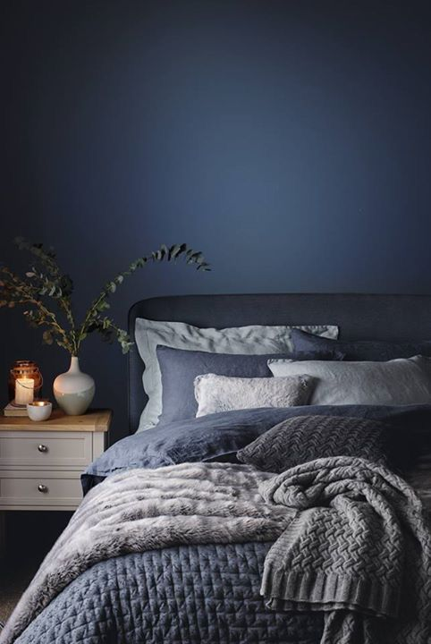 MASter bed room- Dramatic dark grey bed spread | Higginbottom ...