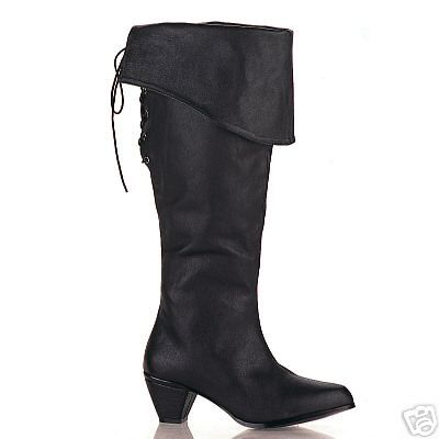 Lady's pirate boot - nice! Sensible heel for boat trips, too