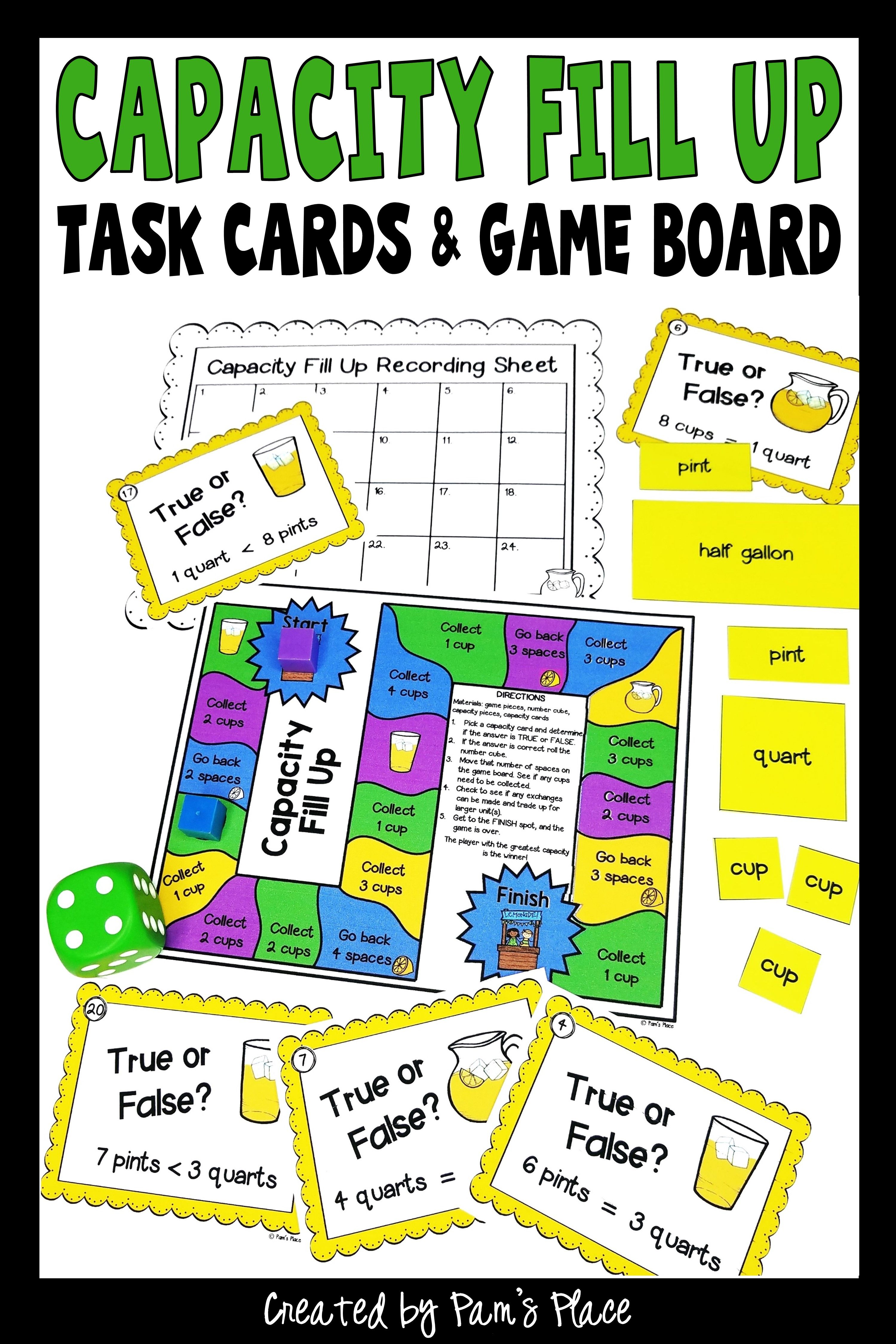 Customary Capacity Activities With Task Cards