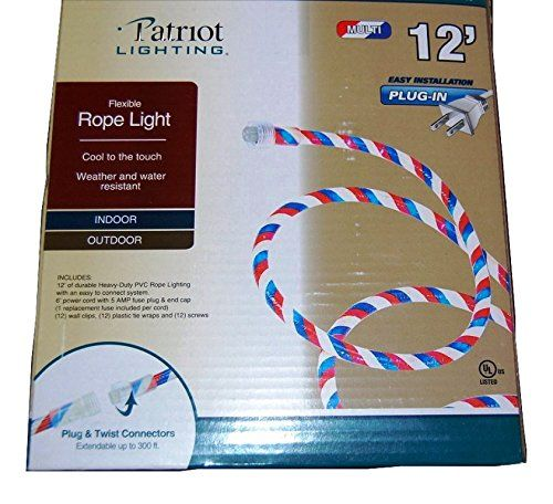 Patriotic White Indoor Outdoor Light In 2020 Outdoor Rope Lights Rope Light Indoor Outdoor