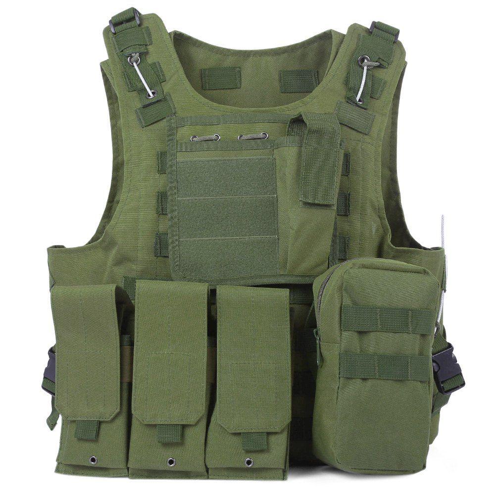 Più nuovo Stile Tattico Anfibio Militare Molle Gilet Assalto di Combattimento Portante del Piatto Vest Caccia di Protezione Giubbotto Mimetico