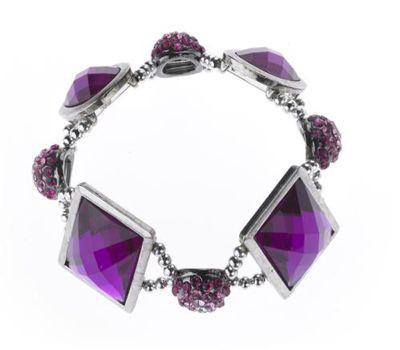 Instructions For Magenta Crystal Slider Bracelet From Michaels So Pretty