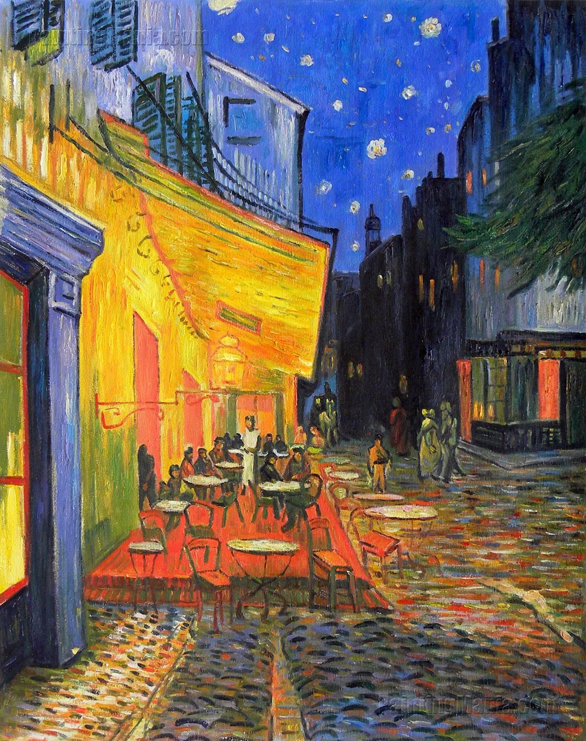 "cafe terrace at night vincent His iconic painting ""cafe terrace at night"" depicts a group of anonymous patrons  enjoying an evening in arles, france yet new research."