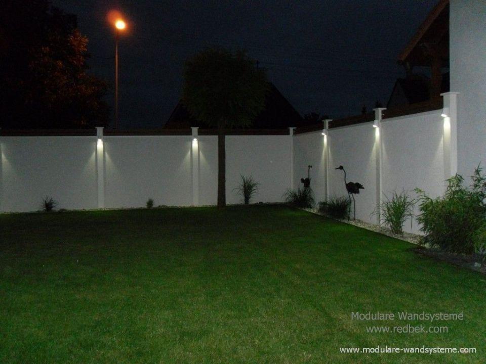 Sichtschutz Mauer Mit Beleuchtung Modulare Wandsysteme