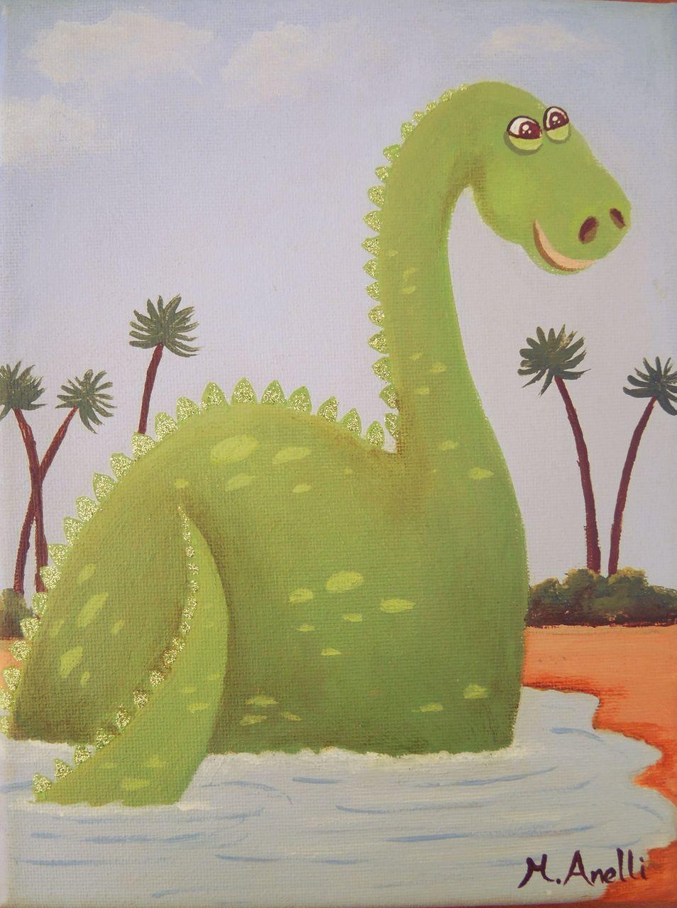 Dinosaur art, dinosaur painting, jurassic art, gift for a boy, boys ...