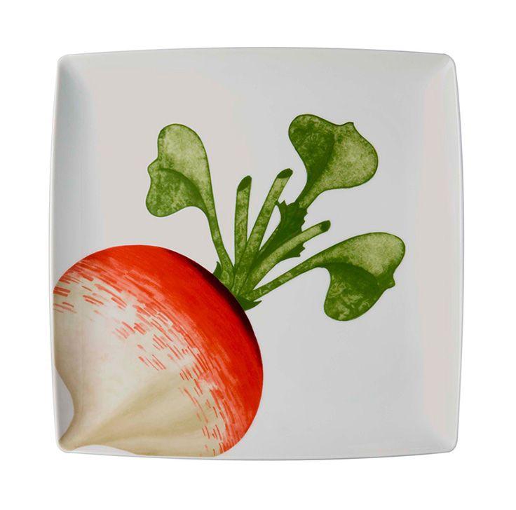 vegetables charger plate radish pintura sobre. Black Bedroom Furniture Sets. Home Design Ideas