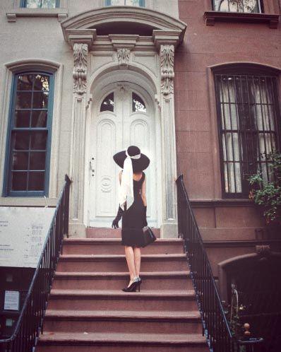 Photo of Holly Oversized Wool Hat and Black Fringe Dress