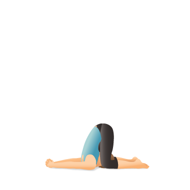 yoga pose deaf man's ear pressure karṇapīḍāsana  yoga